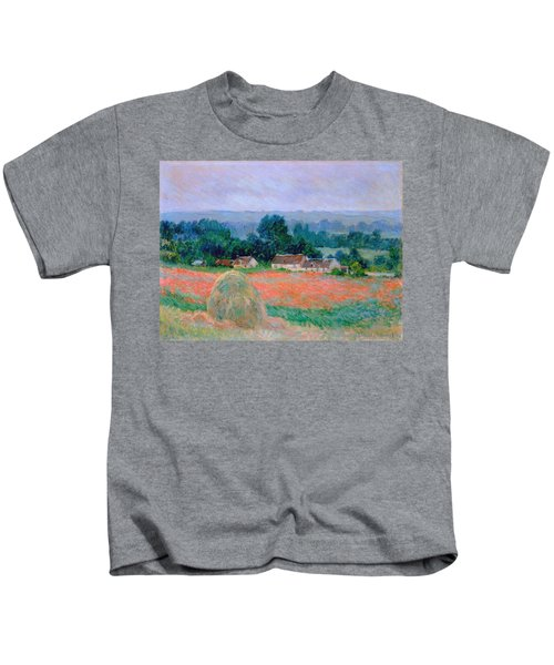 Haystack At Giverny 1886 Kids T-Shirt