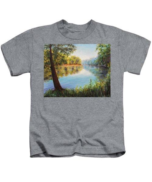 He Leadeth Me Kids T-Shirt