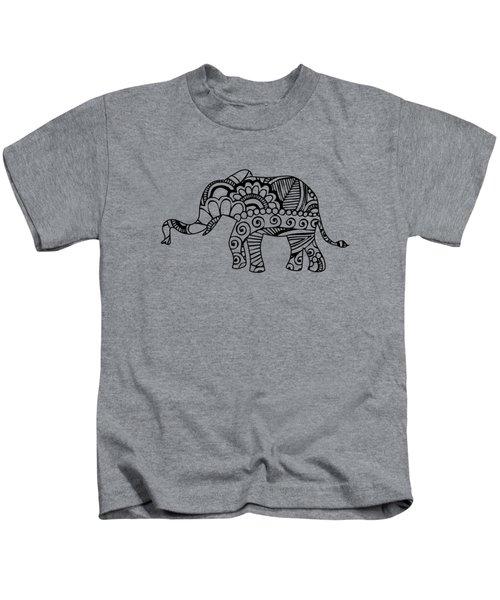Henna Elephant 1 Kids T-Shirt