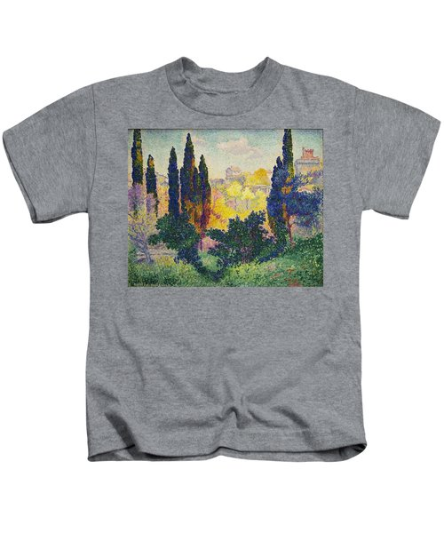 Henri Edmond Cross French Les Cypres A Cagnes Kids T-Shirt