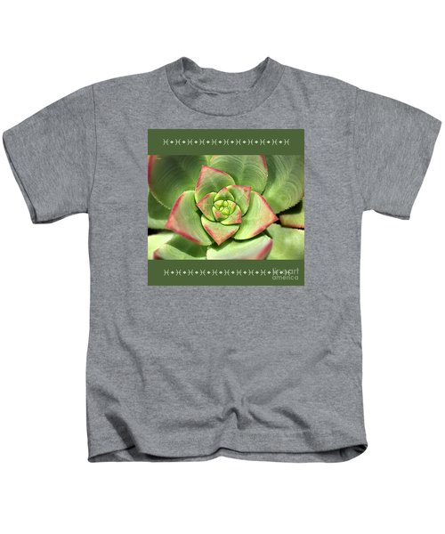 Hens And Chicks Succulent And Design Kids T-Shirt