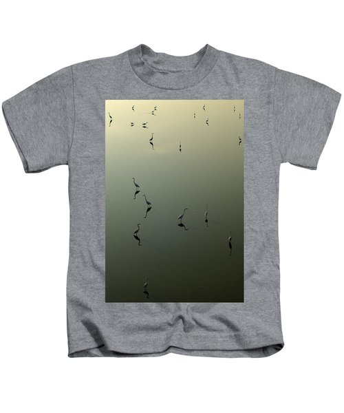 Herons On Lake 367 Kids T-Shirt