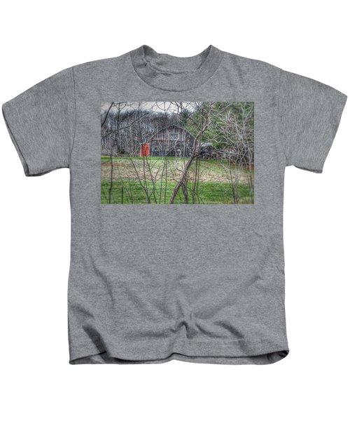 0019 - Hidden Capac Grey Kids T-Shirt