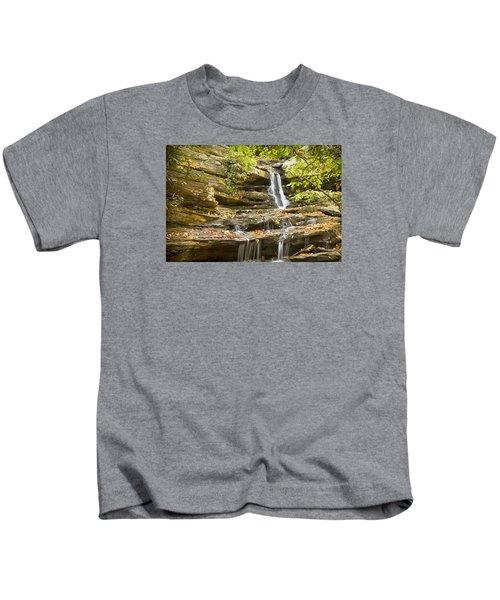 Hidden Falls-hanging Rock State Park Kids T-Shirt