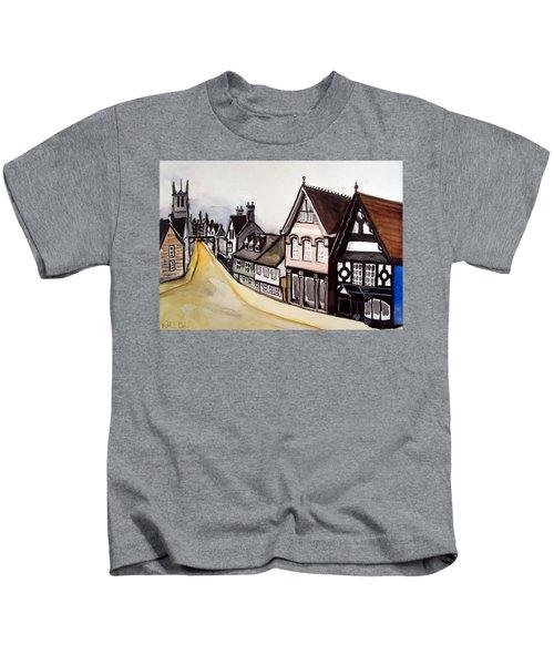 High Street Of Stamford In England Kids T-Shirt