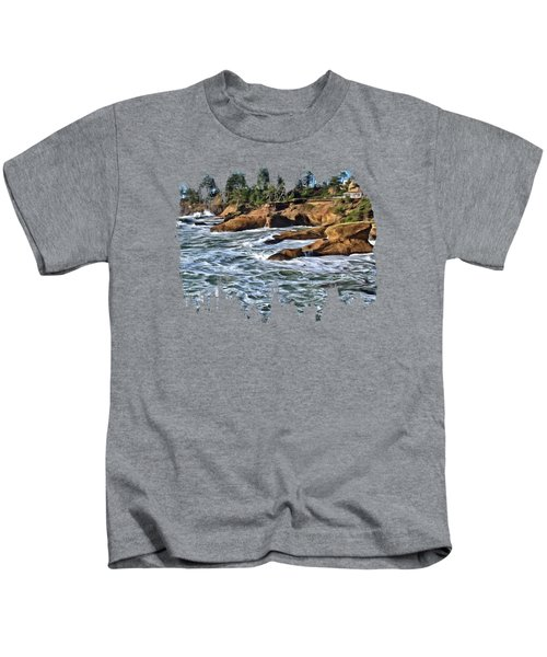 High Tide At Arch Rock Kids T-Shirt