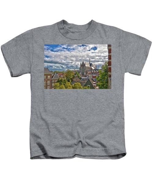 Highland Church Seen From Leiden Castle Kids T-Shirt