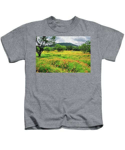 Hill Country Wildflowers Kids T-Shirt