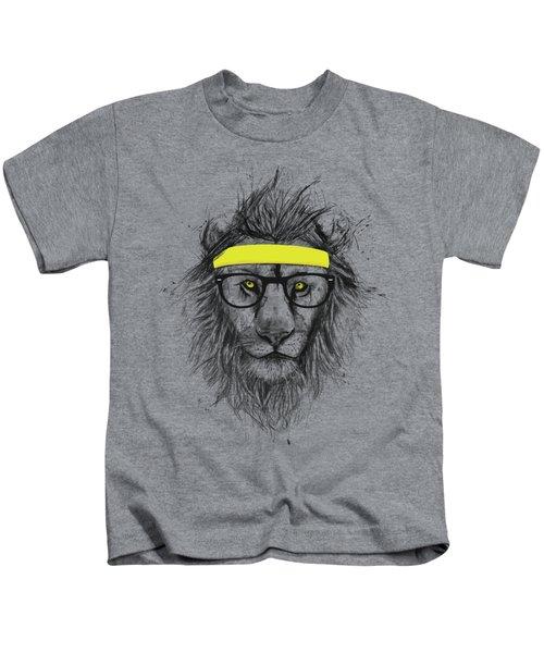 Hipster Lion Kids T-Shirt
