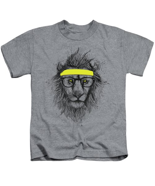 Hipster Lion Kids T-Shirt