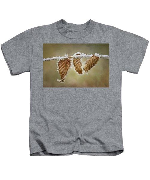 Hoar Frost - Leaves Kids T-Shirt