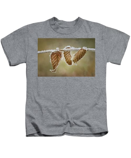 Hoar Frost - Leaves Kids T-Shirt