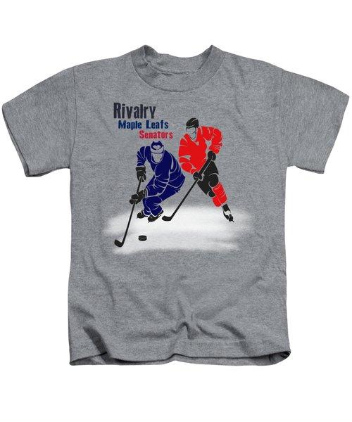 Hockey Rivalry Maple Leafs Senators Shirt Kids T-Shirt