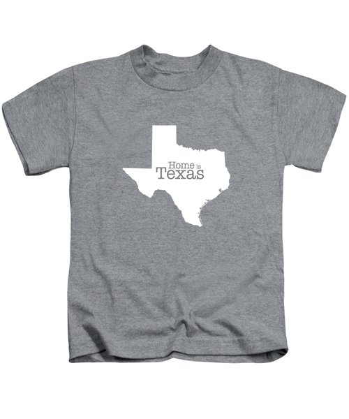 Home Is Texas Kids T-Shirt by Bruce Stanfield