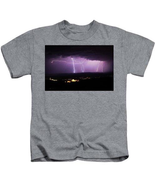 Horizontal And Vertical Lightning Kids T-Shirt