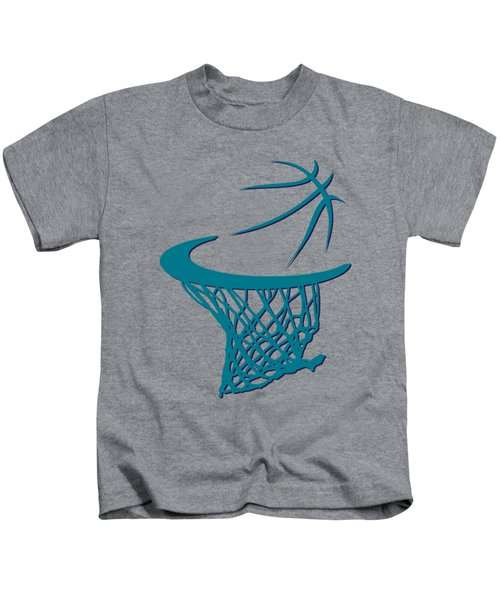 Hornets Basketball Hoop Kids T-Shirt
