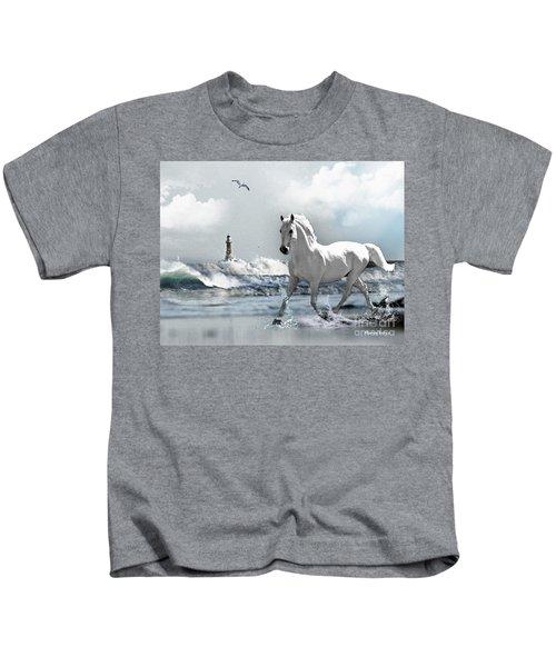 Horse At Roker Pier Kids T-Shirt