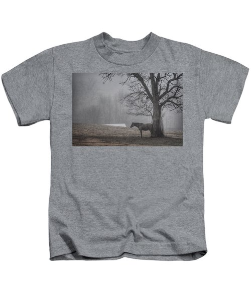 Horse And Tree Kids T-Shirt