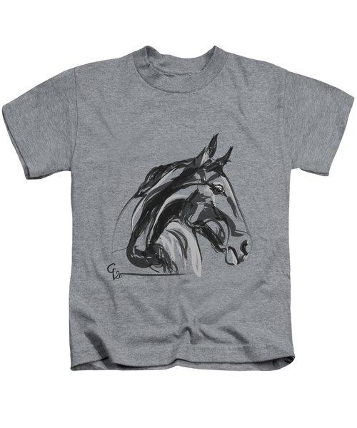 horse - Apple digital Kids T-Shirt