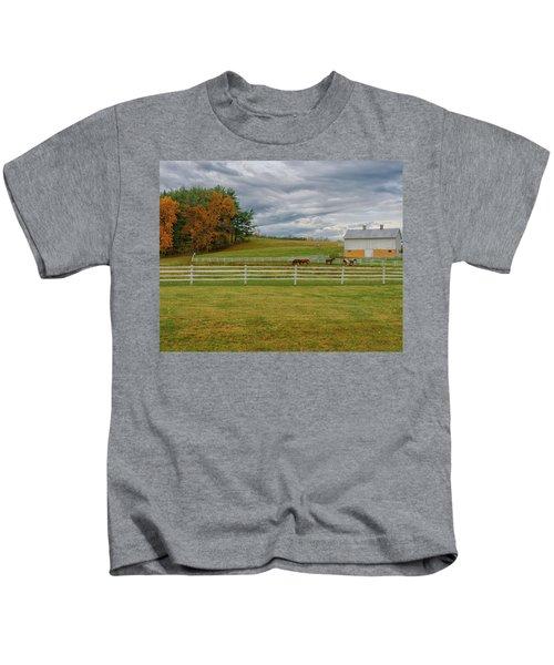 Horse Barn In Ohio  Kids T-Shirt