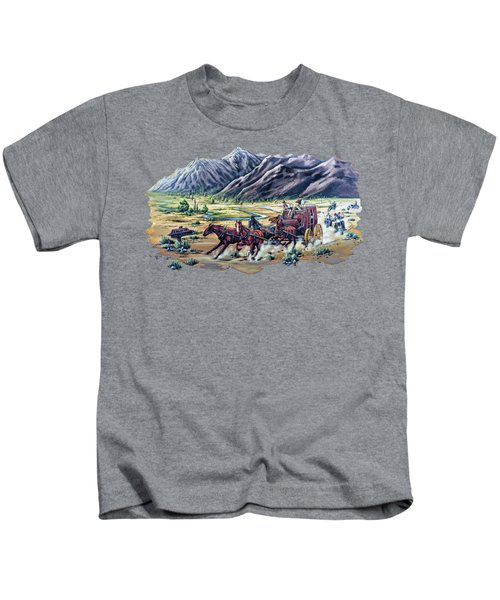 Horses And Motorcycles Kids T-Shirt