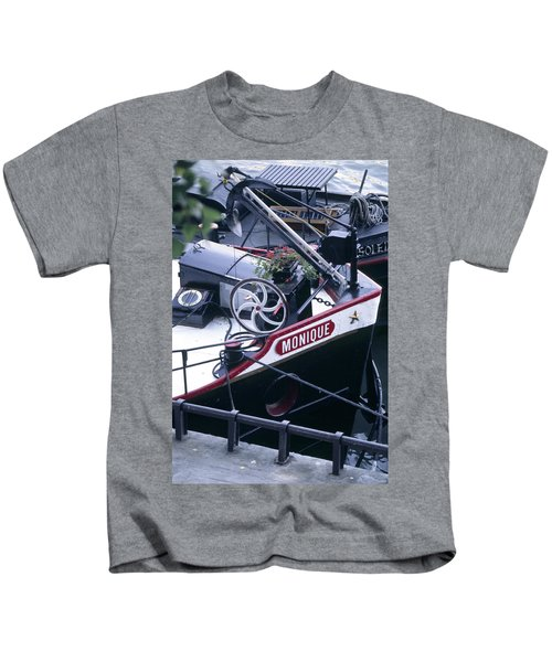 Houseboat In France Kids T-Shirt