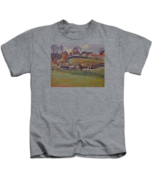 Houses And Cows In Schweiberg Kids T-Shirt