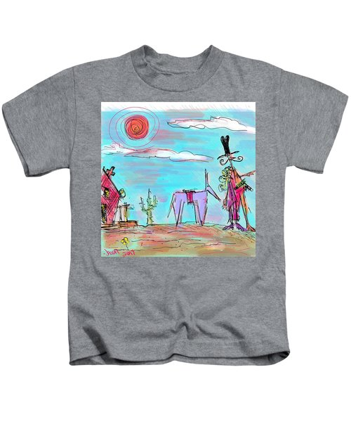 Howdy Pardner...the Frontier Awaits Kids T-Shirt