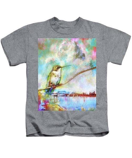 Hummingbird By The Chattanooga Riverfront Kids T-Shirt