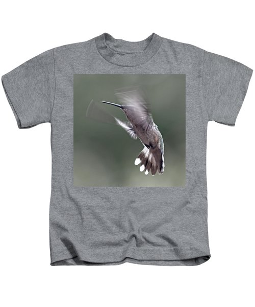Hummingbird In The Country Kids T-Shirt