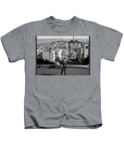 Humphrey Bogart Film Noir Dark Passage Telegraph Hill And Coit Tower San Francisco 1947 Kids T-Shirt