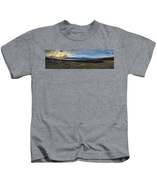 Hvalfjorour Panorama Kids T-Shirt