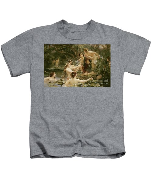 Hylas And The Water Nymphs Kids T-Shirt