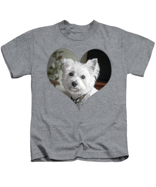 I Heart Puppy On A Transparent Background Kids T-Shirt
