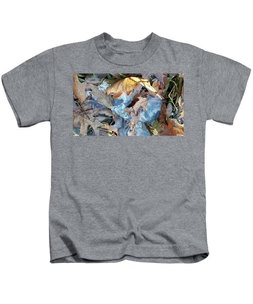 Ice And Fallen Leaves Kids T-Shirt