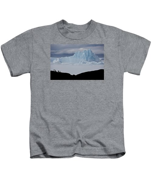 Ice Blue Mountain Kids T-Shirt