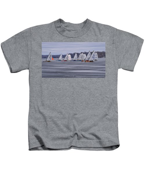 Ice Boat Racing - Madison - Wisconsin Kids T-Shirt