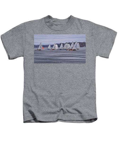 Ice Boat Racing - Madison - Wisconsin Kids T-Shirt