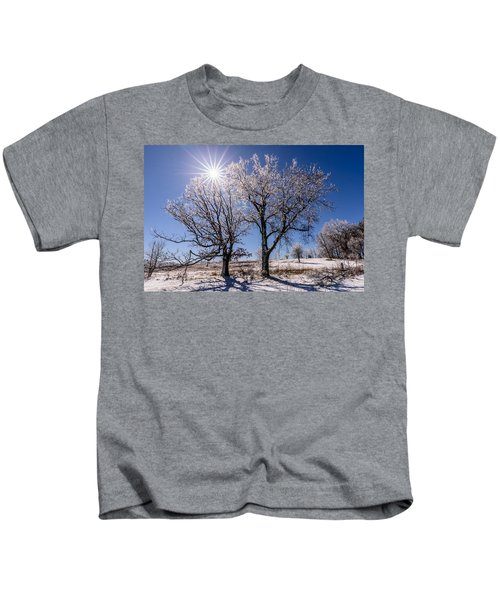 Ice Coated Trees Kids T-Shirt