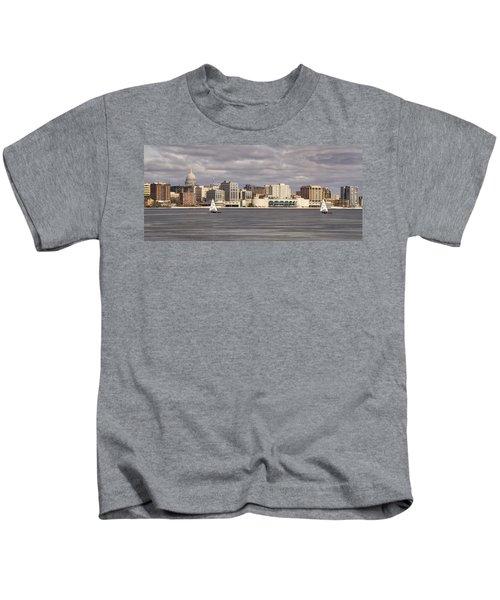 Ice Sailing - Lake Monona - Madison - Wisconsin Kids T-Shirt