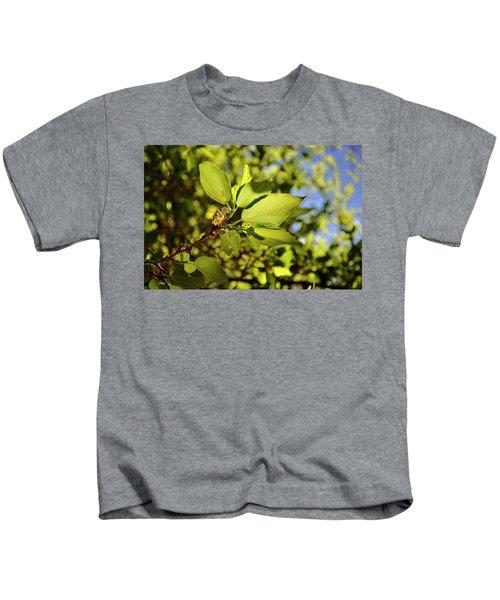 Illuminated Leaves Kids T-Shirt