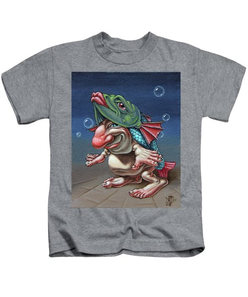 In A Fish Suit. Kids T-Shirt