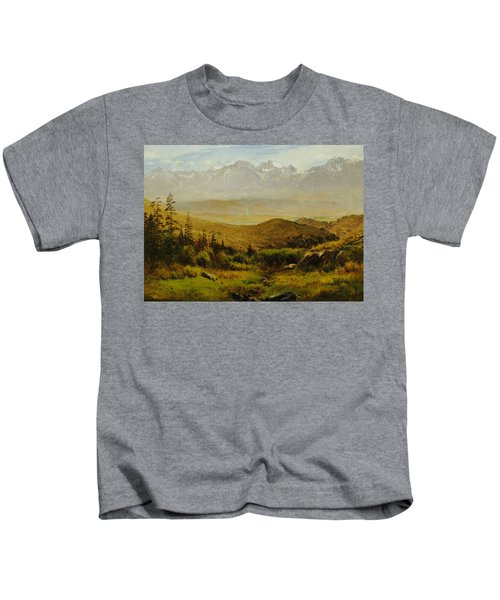 In The Foothills Of The Rockies Kids T-Shirt