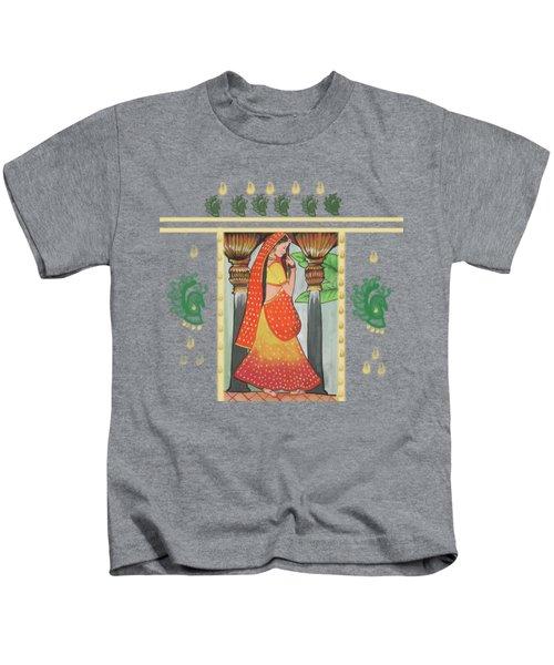 Indian Beautiful Woman Kids T-Shirt