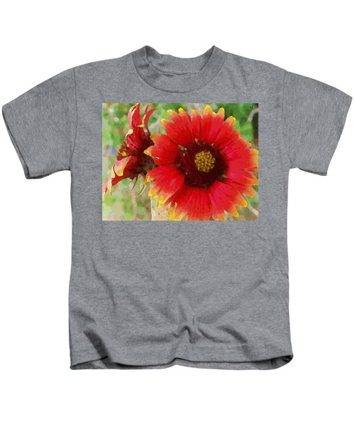 Indian Blanket Flowers Kids T-Shirt