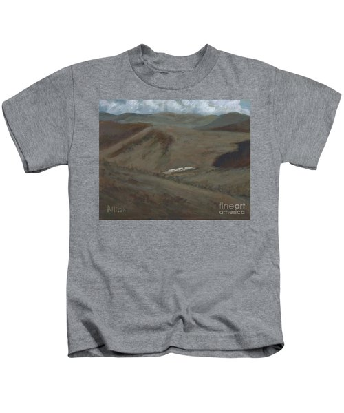 Indian Lodge - A View From The Top Ft. Davis, Tx Kids T-Shirt