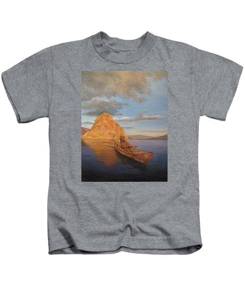 Indian On Lake Pyramid Kids T-Shirt