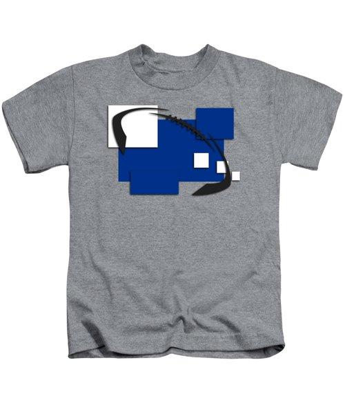 Indianapolis Colts Abstract Shirt Kids T-Shirt by Joe Hamilton