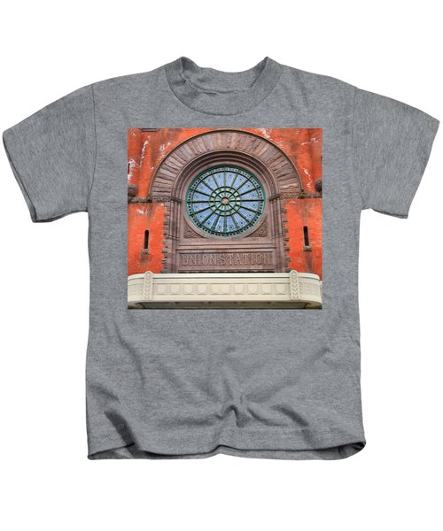 Indianapolis Union Station Building Kids T-Shirt