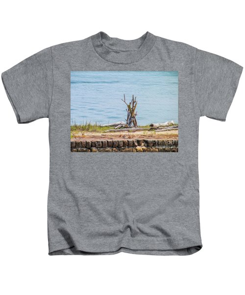Intertwined Thoughts By The Ocean Kids T-Shirt